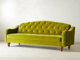 Yellow Sleeper Sofa Room Tufted Sleeper Sofa Lovely Royal Blue Plush Velvet Intended
