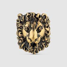 Head Cushion Socks Lion Head Ring Gucci Fashion Rings 398601i46008233