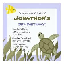 turtle birthday invitations u0026 announcements zazzle