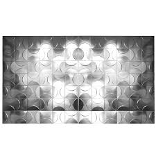 set of 84 metal decorative panels of relief geometrical figures