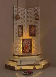 home temple design interior pooja room by kamlesh maniya interior designer in surat gujarat