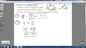 geometry chapter 8 review similarity youtube