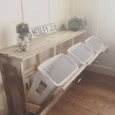 chic way to have a recycling bins in the house in a stylish