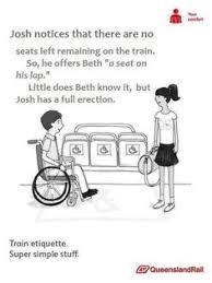 Queensland Rail Meme - silence in the silent car