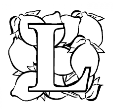 fruit lemon alphabet coloring pages free alphabet coloring pages