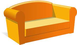 Couch Cartoon Clipart Sofa