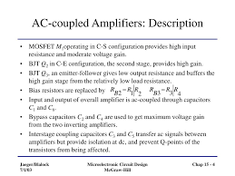 Transformer Coupled Transistor Amplifier Schematic Ppt Chapter 15 Multistage Amplifiers Powerpoint Presentation