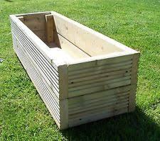 wooden garden planters ebay