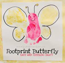 footprint butterfly craft