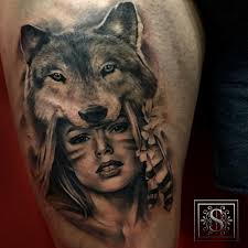 Wolf Indian Tattoos - this nativeamerican america indian wolf
