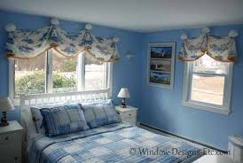 window treatments for beach house blue bedroom