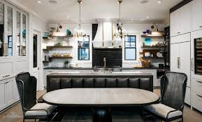 Kitchen Island Contemporary - black dining banquette on back of kitchen island contemporary