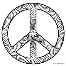 peace sign coloring pages printable coloring