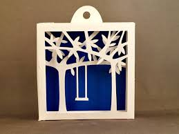 3d shadowbox tree swing for nursery decorating first