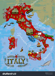 Milan Italy Map Illustrated Map Italy Travel Stock Vector 444453400 Shutterstock