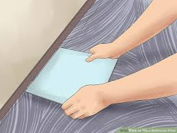 How To Lay Floor Tile In A Bathroom - how to tile a bathroom floor with pictures wikihow