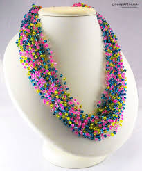 boho style necklace images Boho crochet necklace images jpg