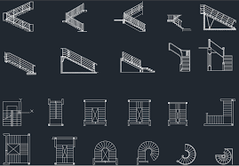 spiral stairs cad blocks free cad block and autocad drawing