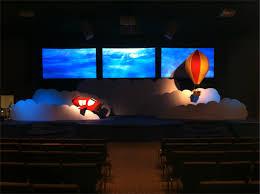 Air Panel Led by Air Church Stage Design Ideas