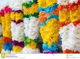Indian Wedding Flower Garlands Indian Colorful Flower Garlands Sales Diwali Festival 33084928 Jpg