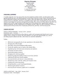 dental office manager resume sample catering sales manager resume