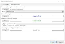 how to set up email signatures for outlook u2013 help center