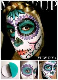 tutorial day of the dead makeup feature