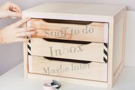 Diy Desk Drawer Before And After Diy This Chest Of Drawers To Declutter Your