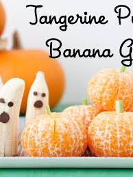 tangerine pumpkins banana ghosts fruity halloween weelicious