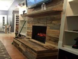 diy pallet wood fireplace fireplaces mantels interior designs