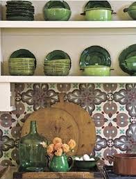 French Blue And White Ceramic Tile Backsplash Patterned Tile Backsplashes