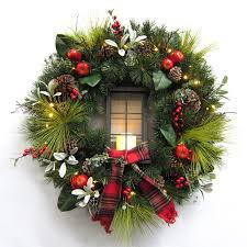 outdoor christmas garland with lights fashionable inspiration outdoor lighted christmas wreath wreaths 36