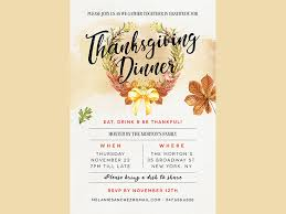 thanksgiving dinner invitation by madridnyc dribbble
