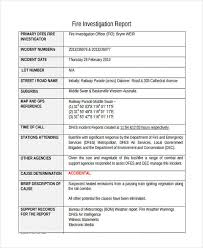 investigation report template 9 investigation report exles sles