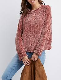 chenille sweater scalloped trim chenille sweater russe