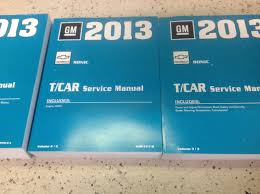 2013 chevrolet chevy sonic service shop repair manual set factory