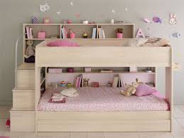 Kids Avenue Bibop  Bunk Bed With Storage Shelves - Pink bunk beds for kids