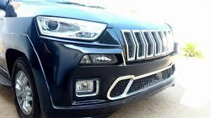 modified jeep 2017 mahindra tuv300 modified to look like a jeep cherokee