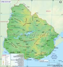 Map Of North America And South America With Countries by Uruguay Map Map Of Uruguay