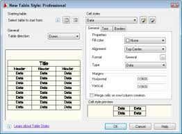 Change Table Style In Excel Autocad Tutorial Create A Cell Style For A Table Autocad Tips
