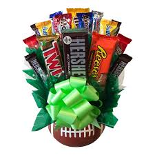 Ceramic Football Vase Ceramic Football Candy Bouquet Aagiftsandbaskets Com