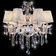 Flush Mount Chandeliers Dinggu Luxuriant Crystal Pendant Light With 8 Lights Ceiling