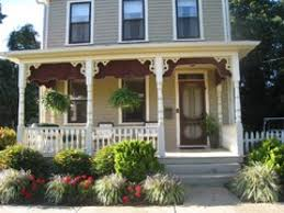 Victorian Home Decor Landscaping Victorian Front Porch Designs With Tile Front Decor