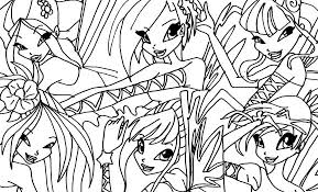 winx coloring pages elfkena deviantart