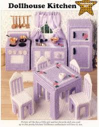 plastic canvas bear free patterens dollhouse kitchen plastic