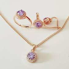 engagement jewelry sets luxurious wedding jewelry sets women lavender women jewelry
