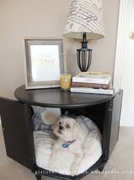thrift store hash side table pet bed
