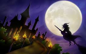 halloween castle background halloween witch wallpapers wallpapersafari