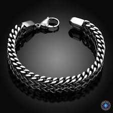 stainless steel chain bracelet images Stainless steel double side snake chain bracelet project yourself jpg