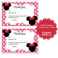 minnie mouse thank you cards free printable minnie mouse thank you cards 2nd birthday